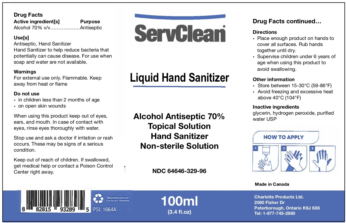 Liquid Hand Sanitizer 100 ML NDC: <a href=/NDC/64646-329-96>64646-329-96</a>