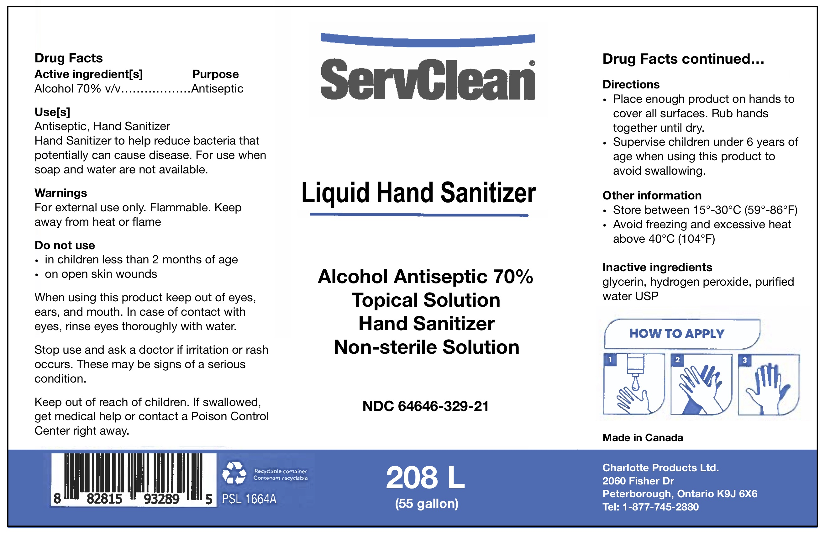 Liquid Hand Sanitizer Drum 64646-329-21