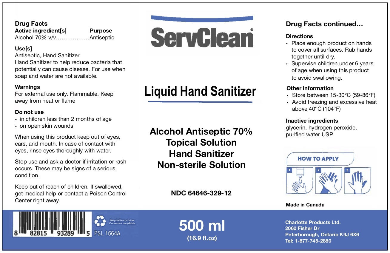 Liquid Hand Sanitizer 500 ML NDC: <a href=/NDC/64646-329-12>64646-329-12</a>