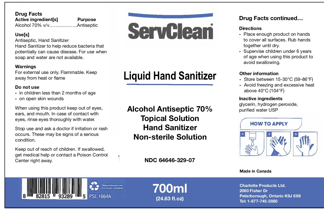 Liquid Hand Sanitizer 700 ML NDC: <a href=/NDC/64646-329-07>64646-329-07</a>