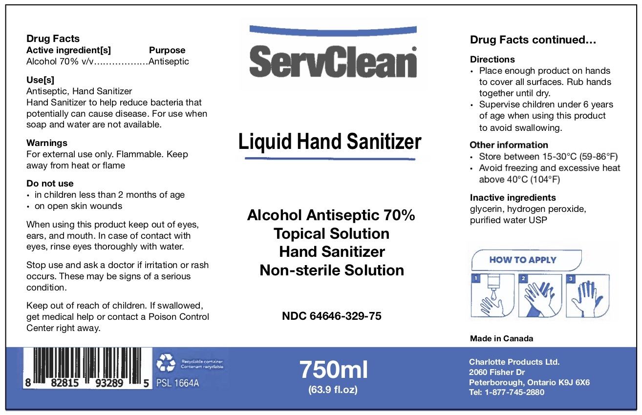 Liquid Hand Sanitizer 750 ml NDC: <a href=/NDC/64646-329-75>64646-329-75</a>