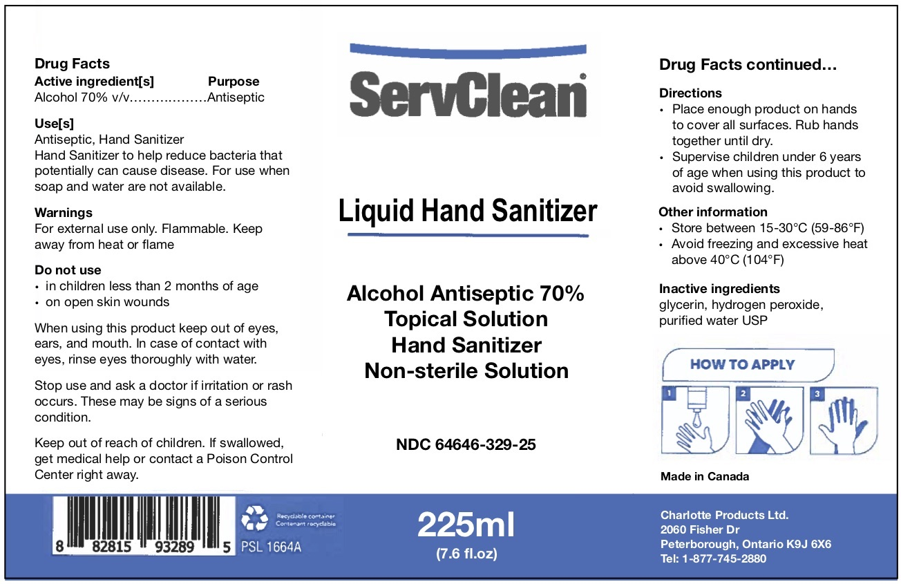 Liquid Hand Sanitizer 225 ML NDC: <a href=/NDC/64646-329-25>64646-329-25</a>