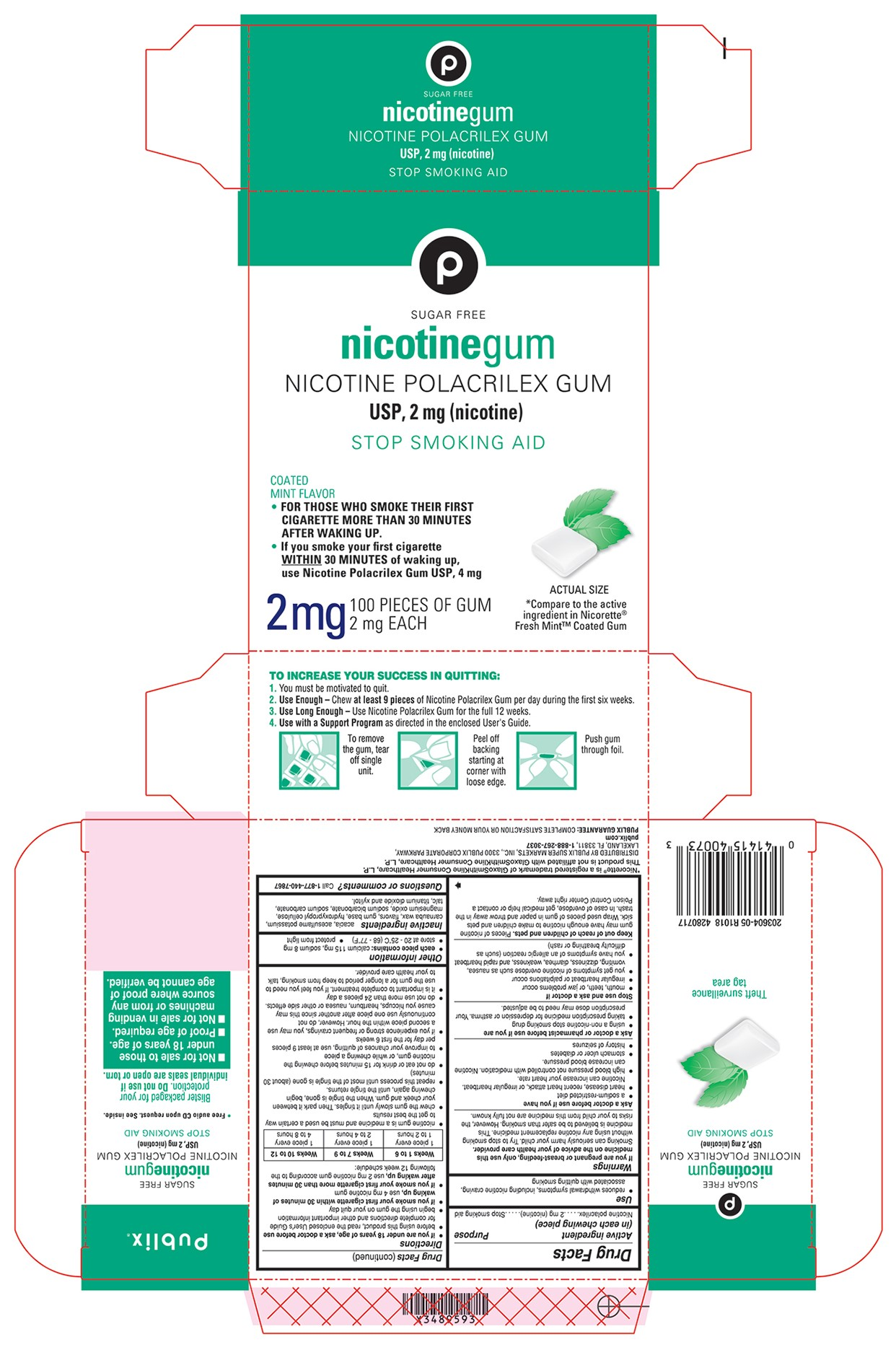 2 mg coated mint 100 count