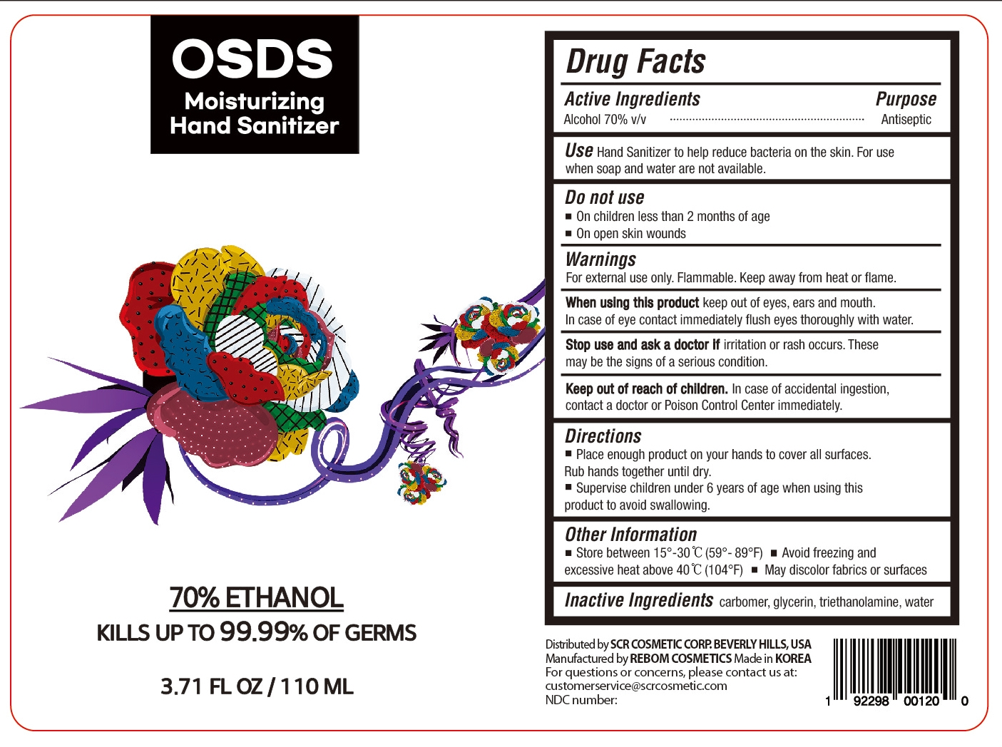 OSDS Hand Sanitizer 110mL (4)