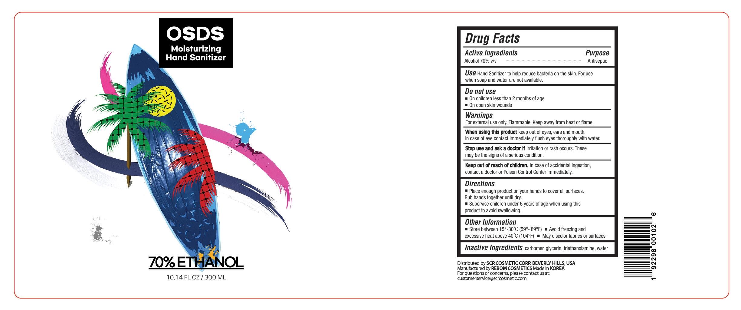 Hand Sanitizer 300mL Label Design 2
