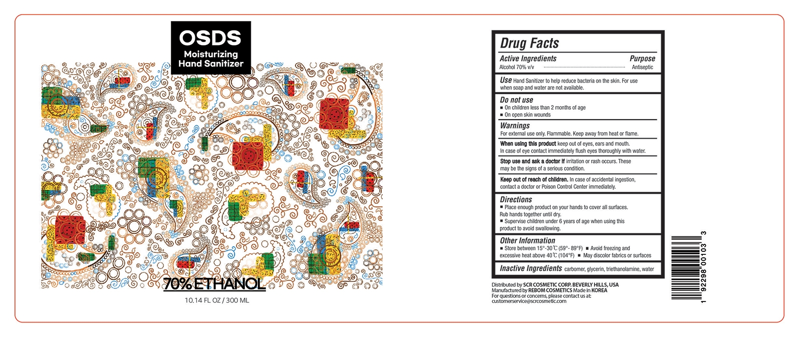 Hand Sanitizer 300 mL Label Design 3