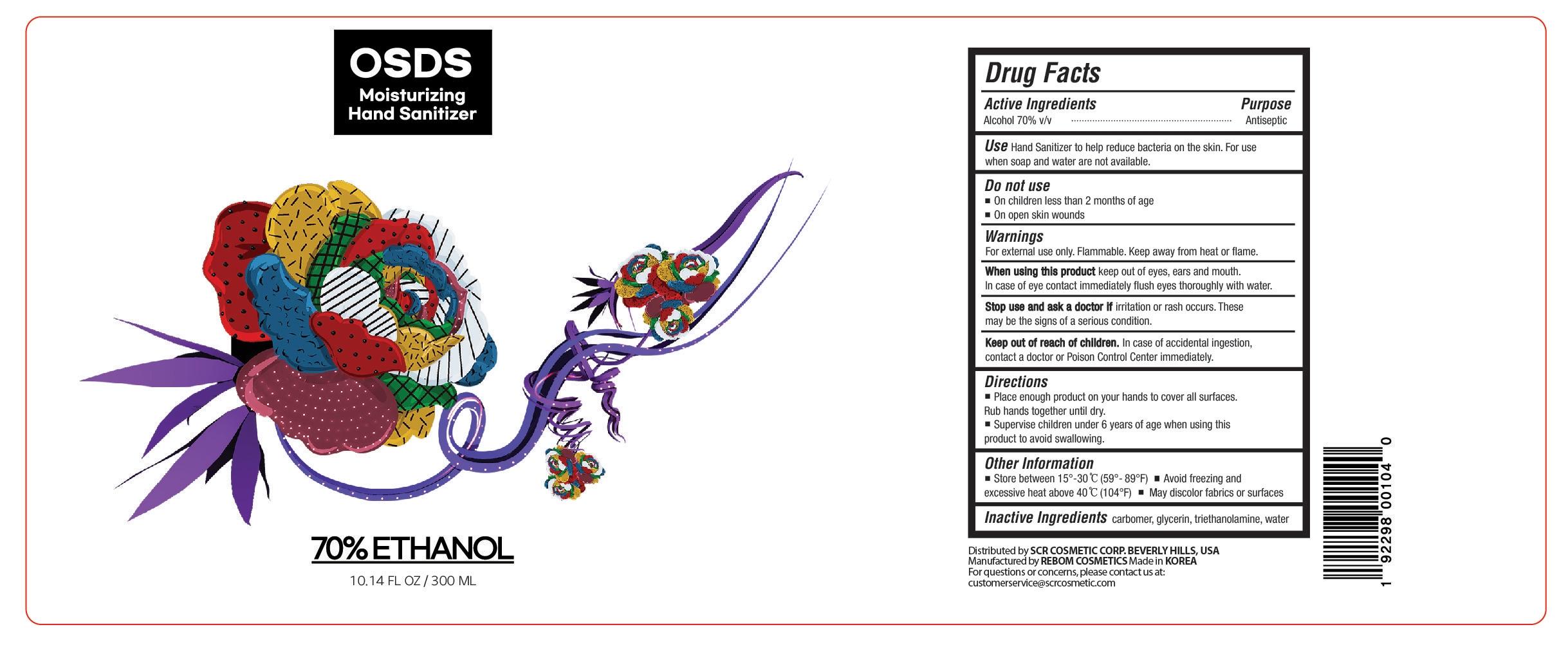 Hand Sanitizer 300 mL Label Design 4