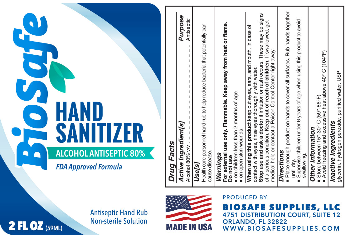 Biosafe Sanitizer Label