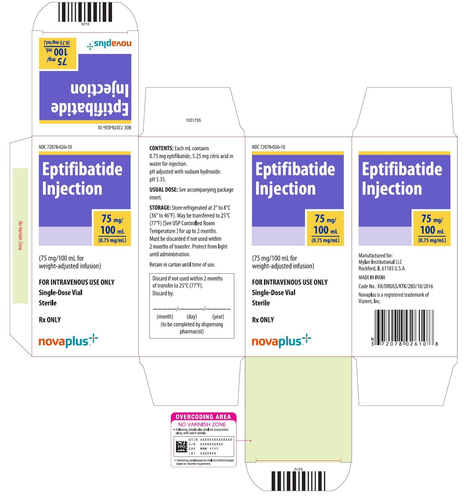 Carton 75 mg