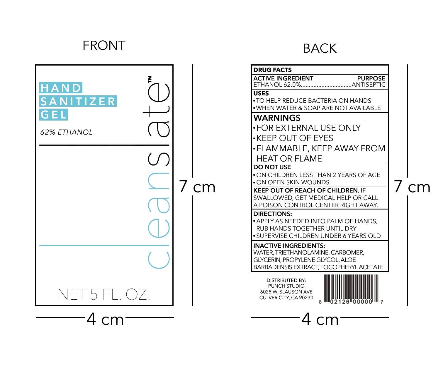 Front & back labels