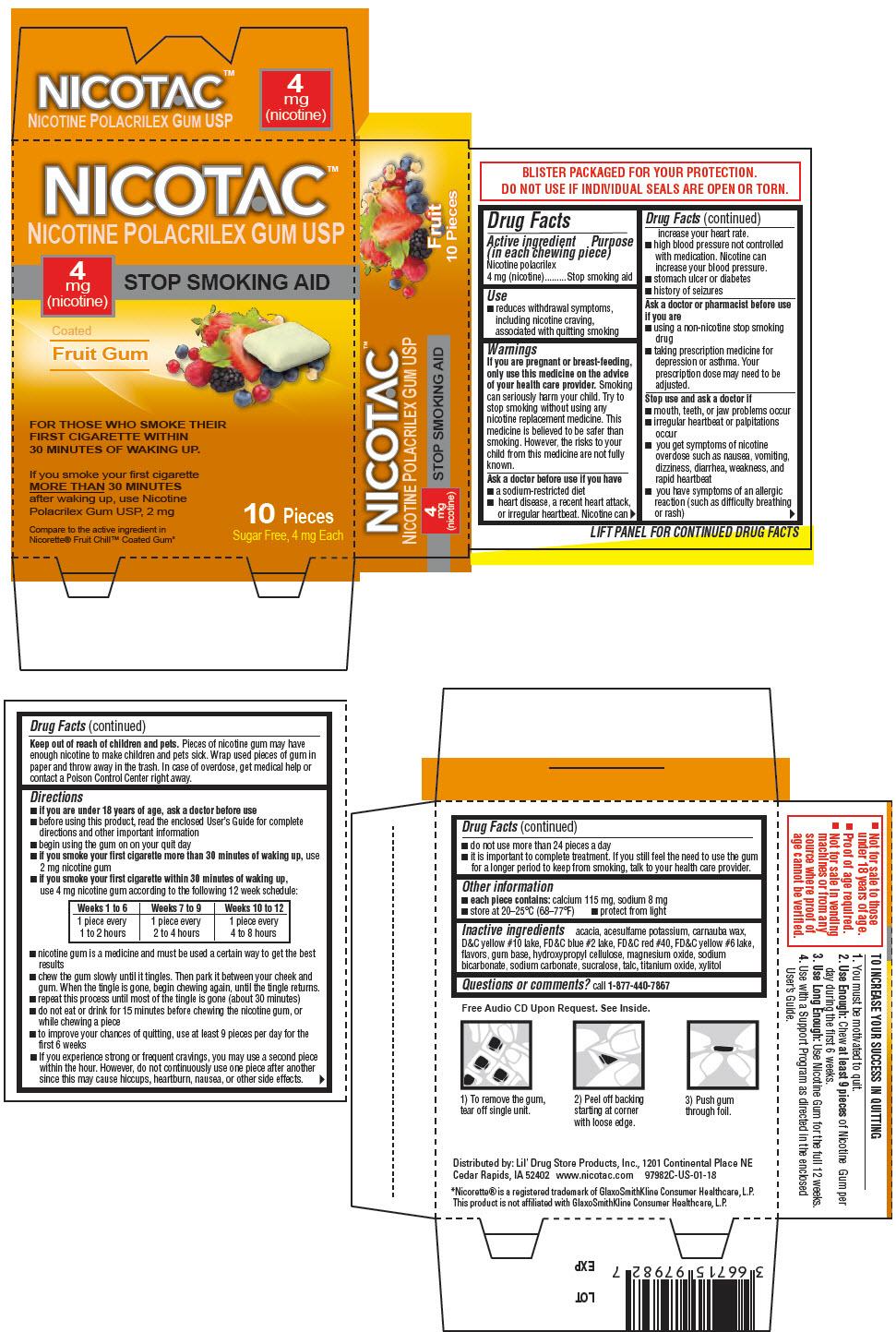 PRINCIPAL DISPLAY PANEL - 4 mg Gum Blister Pack Carton