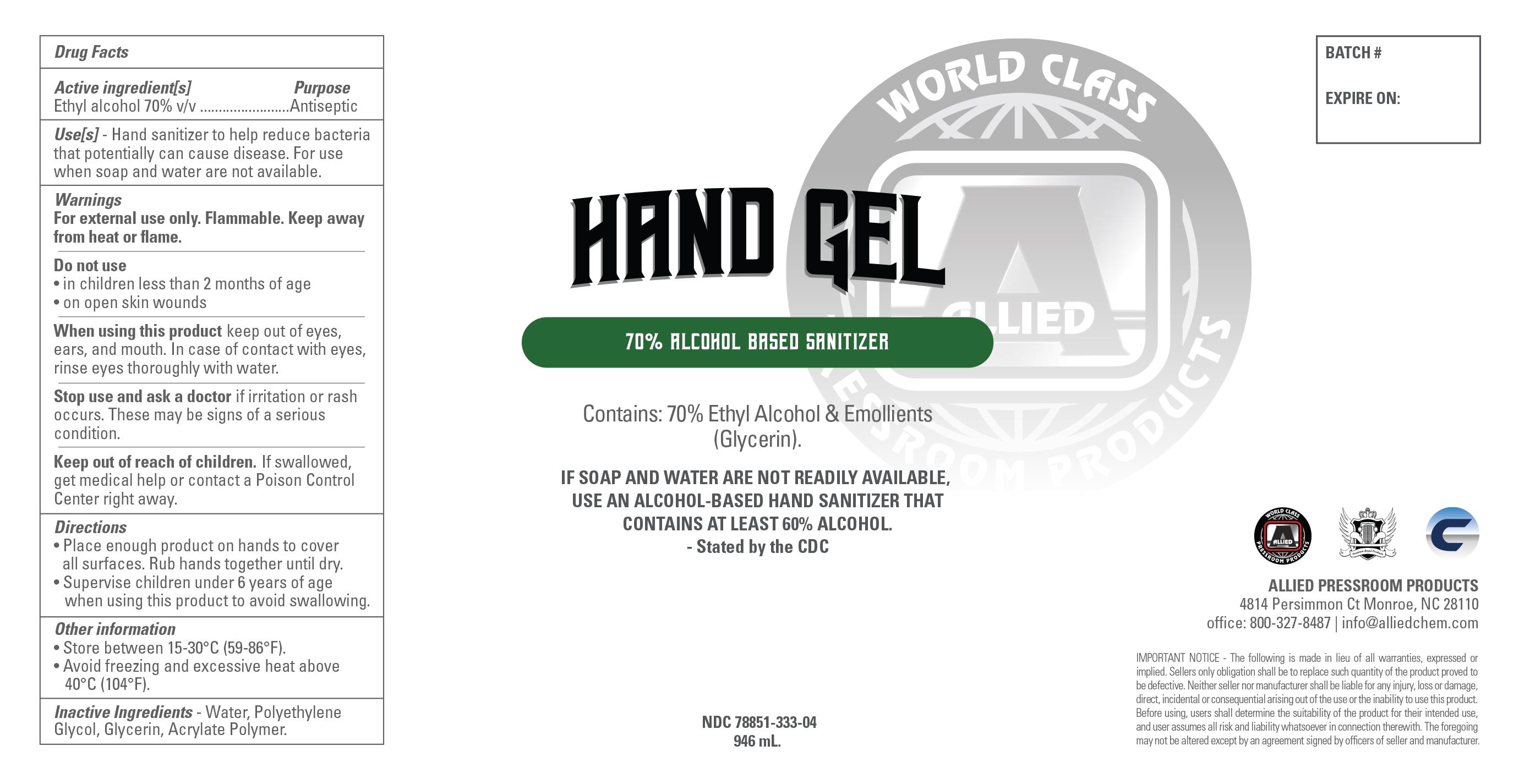 946 ml label