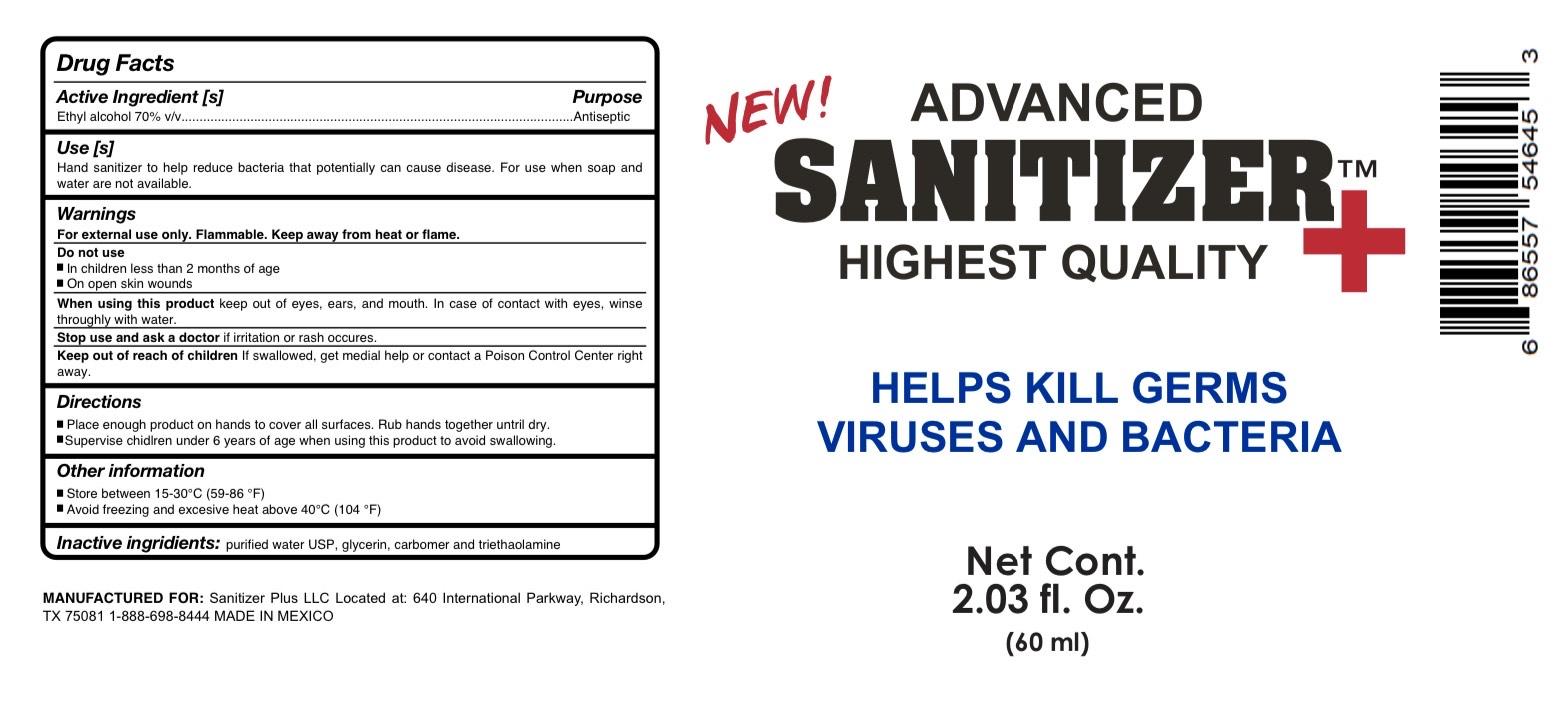 Advanced Sanitizer 60mL 70% alcohol
