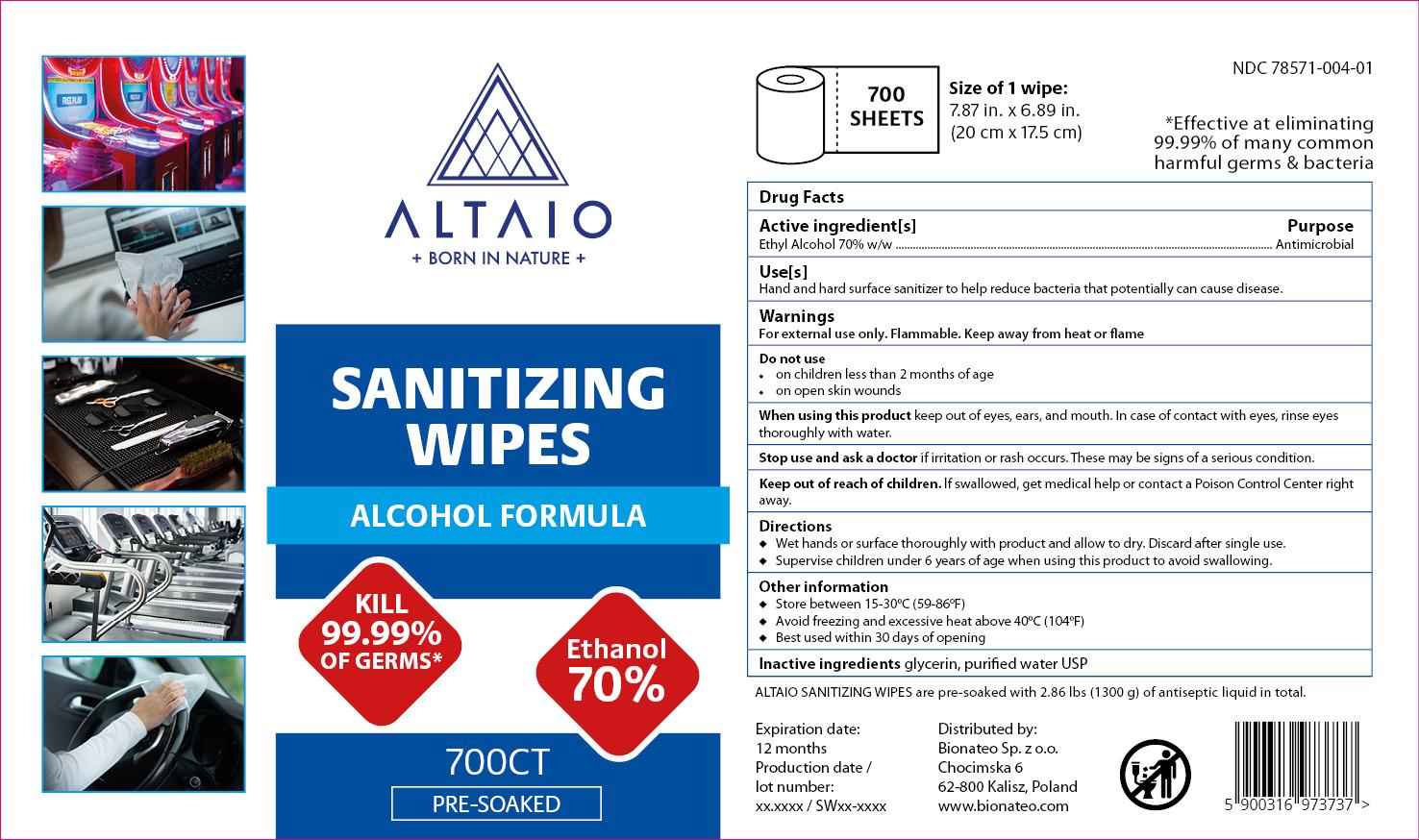 ALTAIO Sanitizing Wipes