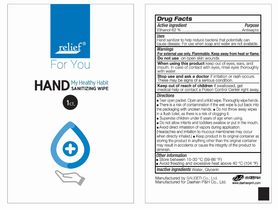 Relief HAND SANITIZING WIPE