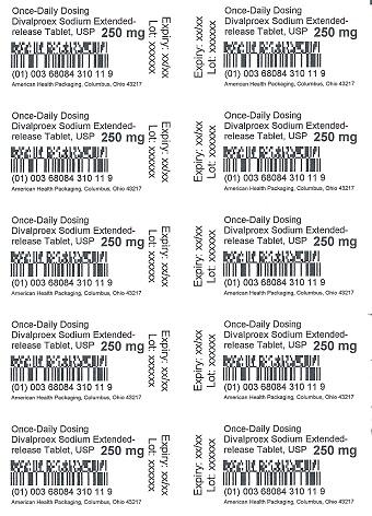 250 mg Divalproex Sodium Tablet Blister