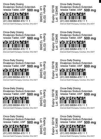 500 mg Divalproex Sodium Tablet Blister