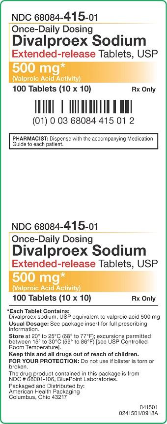 500 mg Divalproex Sodium Tablets Carton