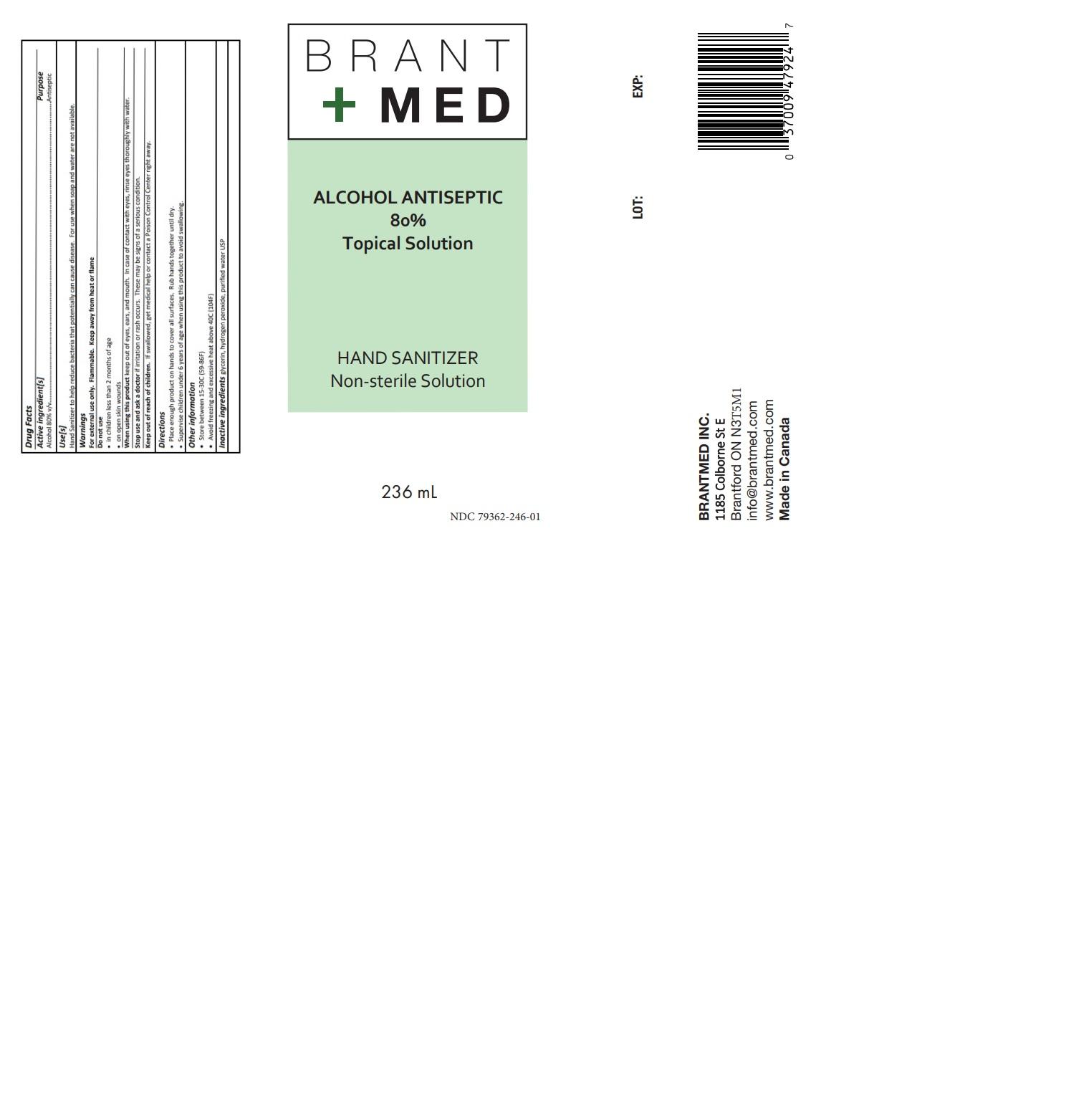 236 ml label