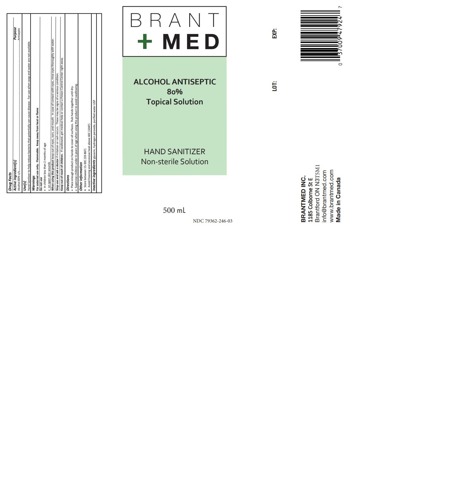 500 ml label