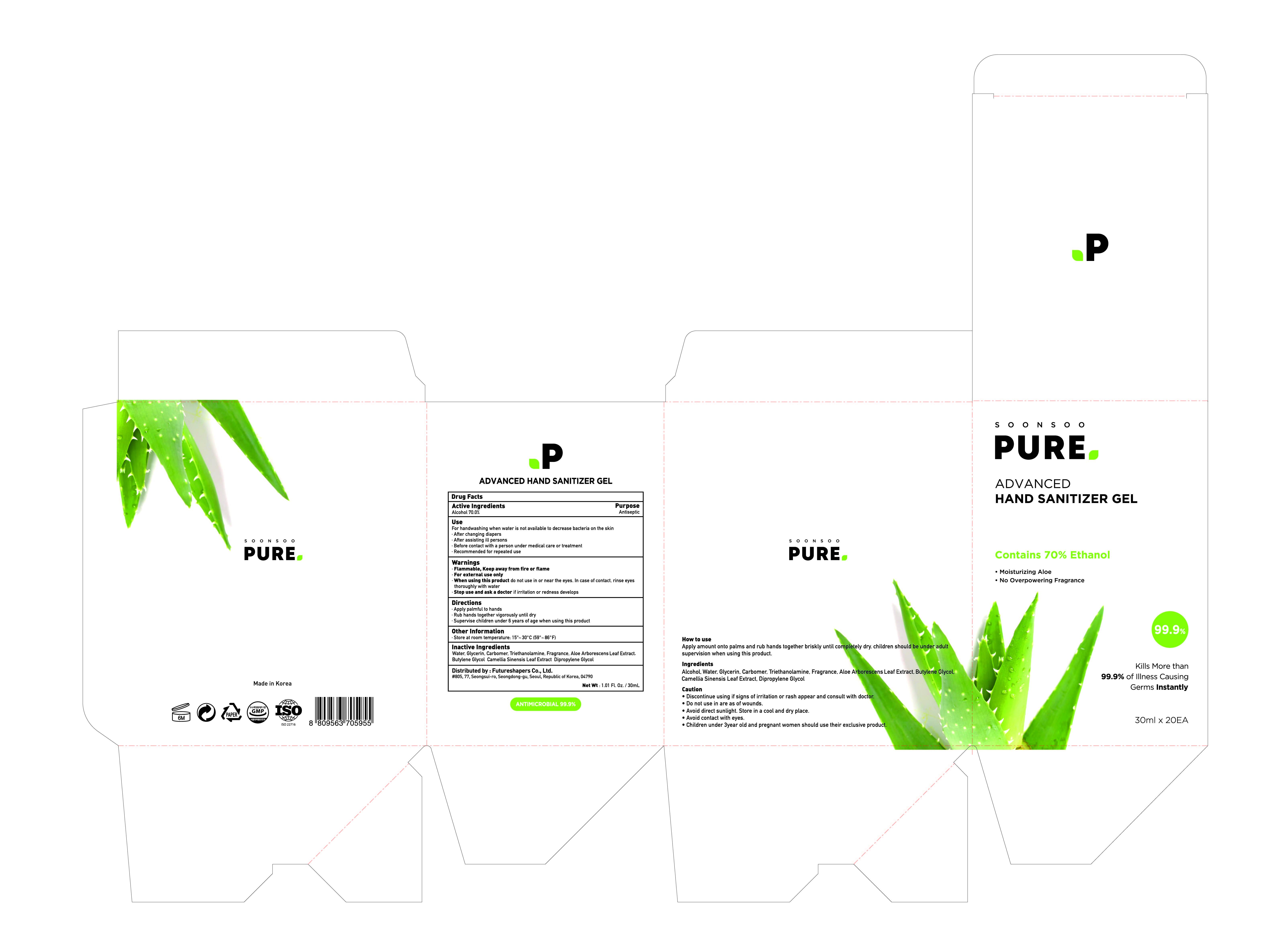 Soonsoo Pure Advanced Hand Sanitizer Gel