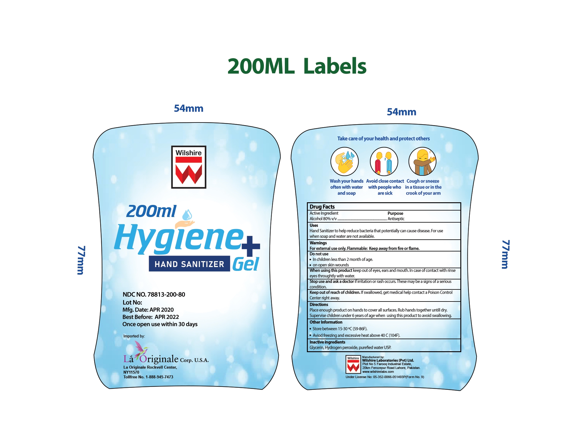 200 mL Label