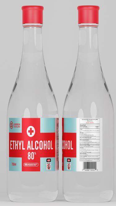 750 mL ETHYL ALCOHOL 80%