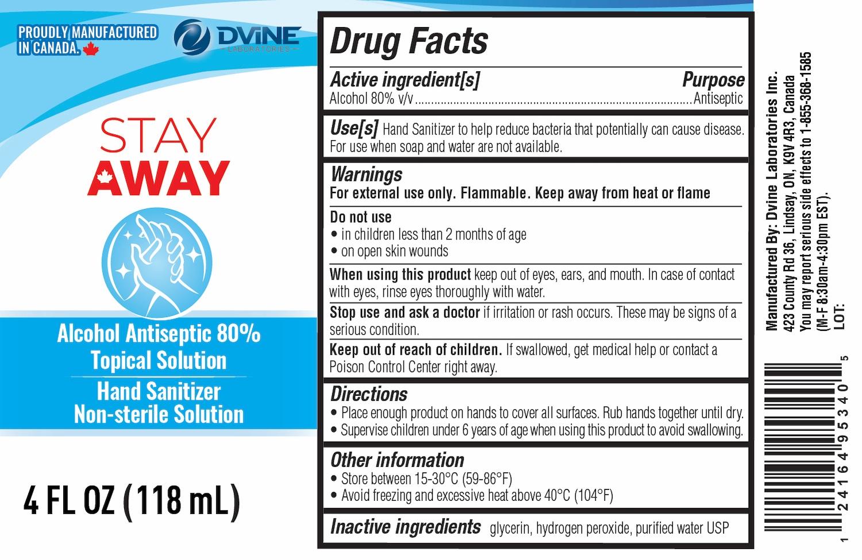 Stay Away 118 ml label