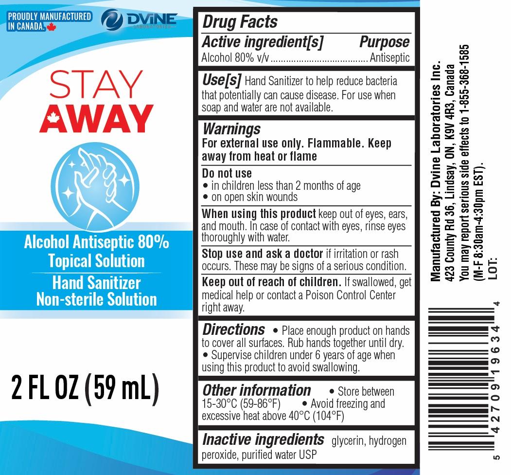 Stay Away 59 ml label