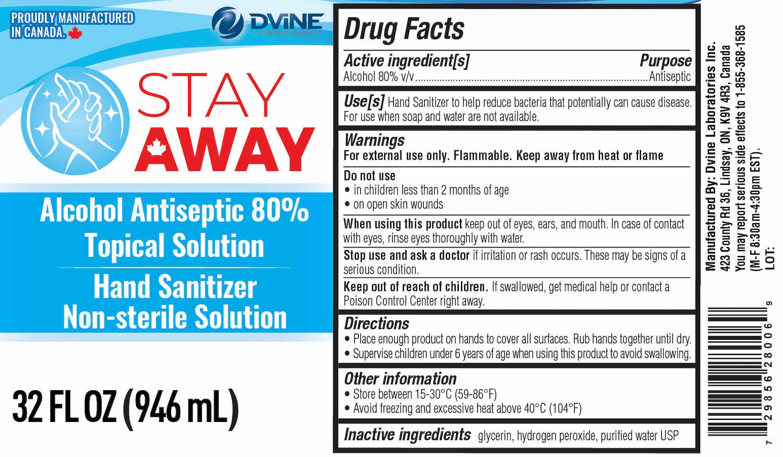 Stay Away 946 ml label
