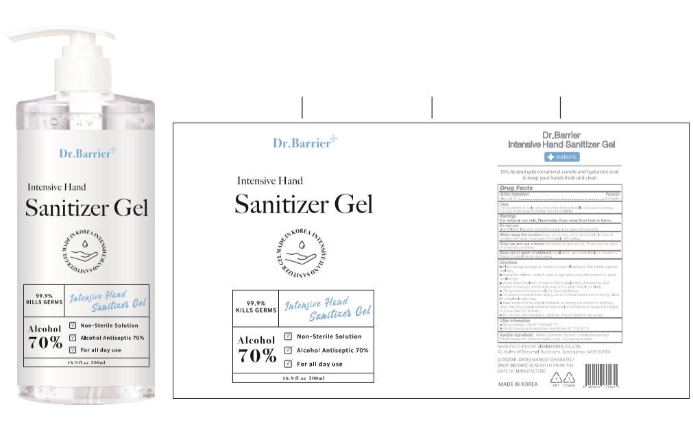 Dr Barrier Intensive Hand Sanitizer Gel 500ml