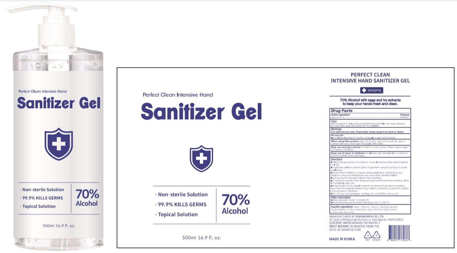 PERFECT CLEAN Intensive Hand Sanitizer Gel