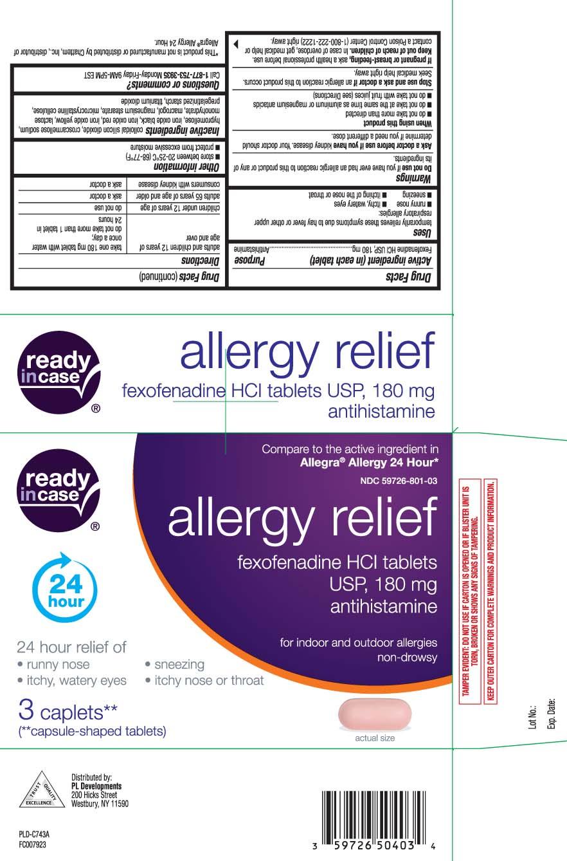 Fexofenadine HCl USP, 180 mg