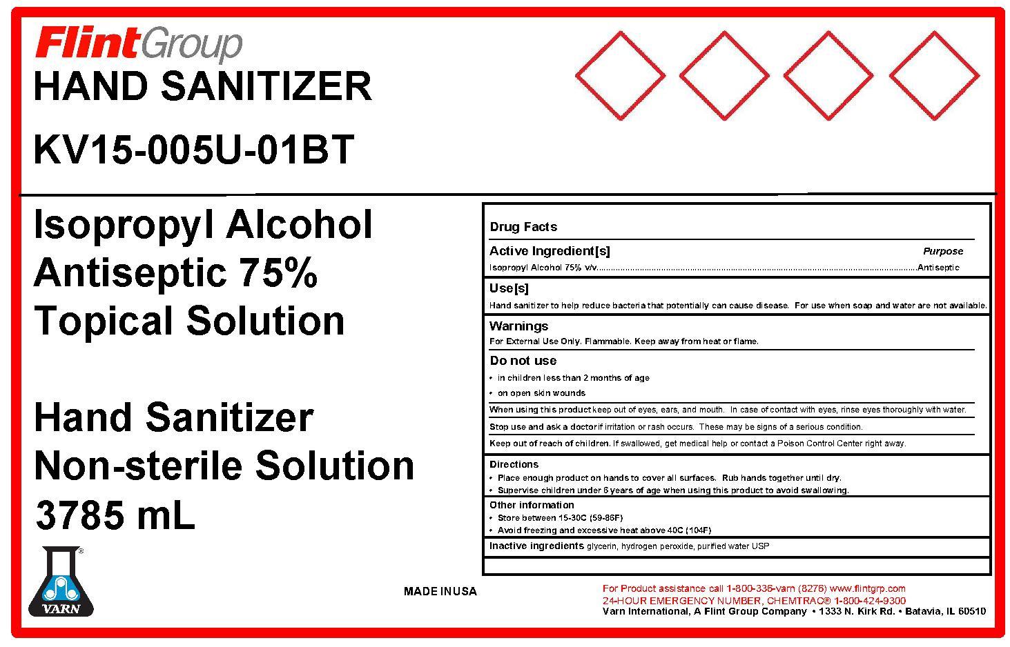Hand Sanitizer Label 3785mL