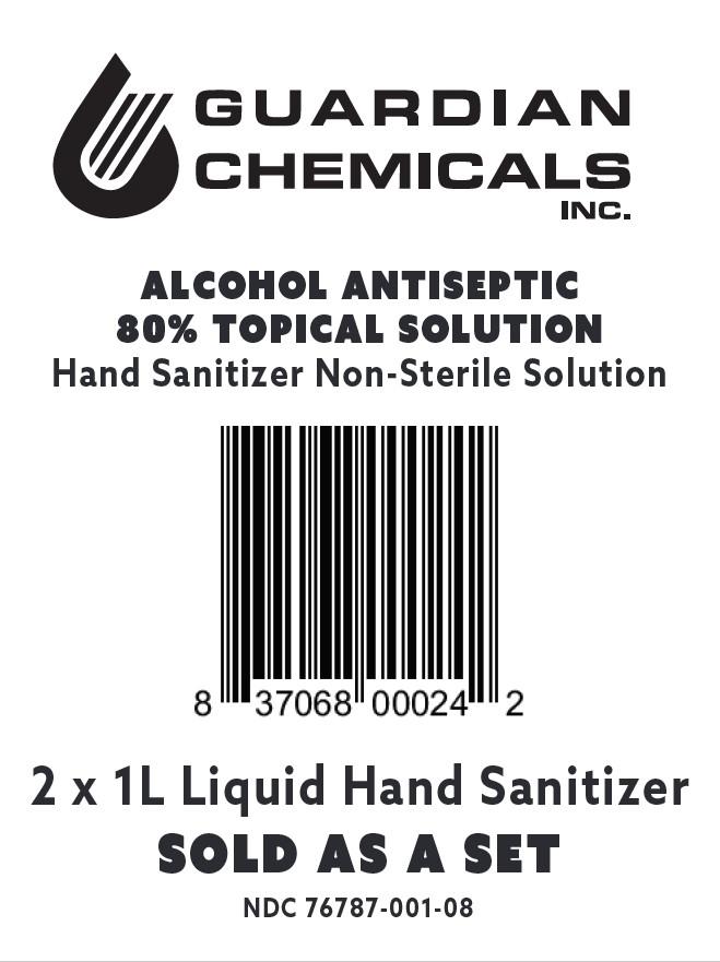 2x1000 mL bag label