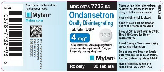 Ondansetron Orally Disintegrating Tablets, USP 4 mg Bottle Label