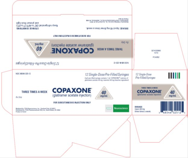 Copaxone® (glatiramer acetate injection) 40 mg/mL, 12 Single-Dose Pre-Filled Syringe Carton, Part 1 of 2