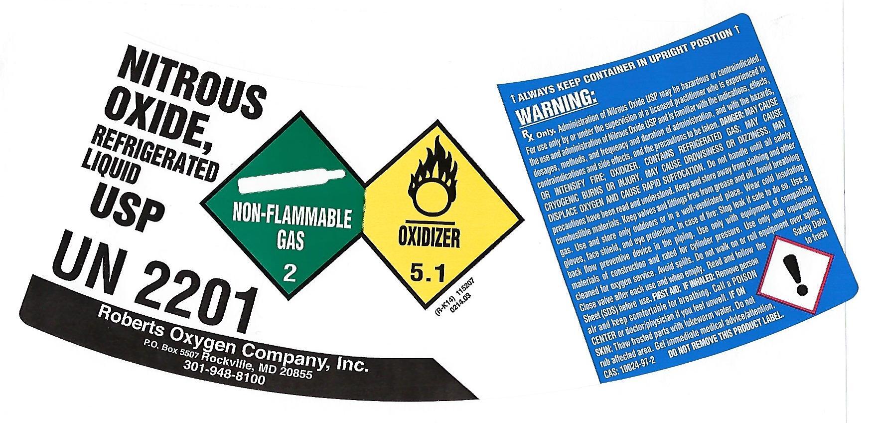 image of dewar label