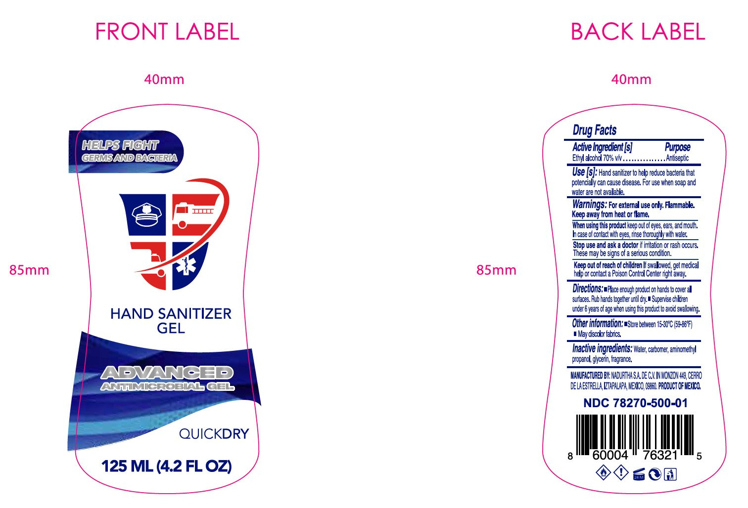 label 125 ml