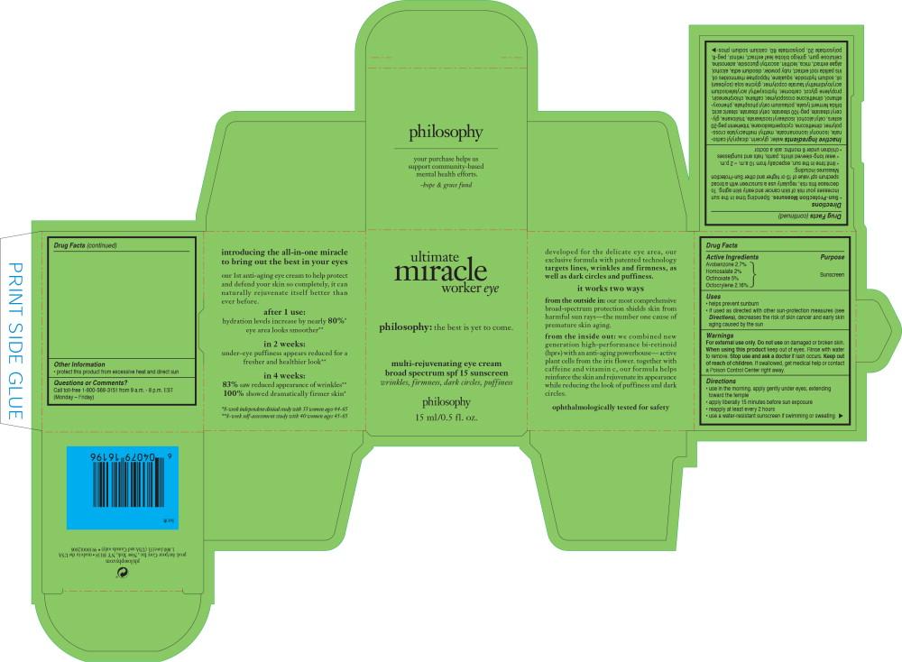 Principal Display Panel - Ultimate Miracle Worker Eye Carton Label