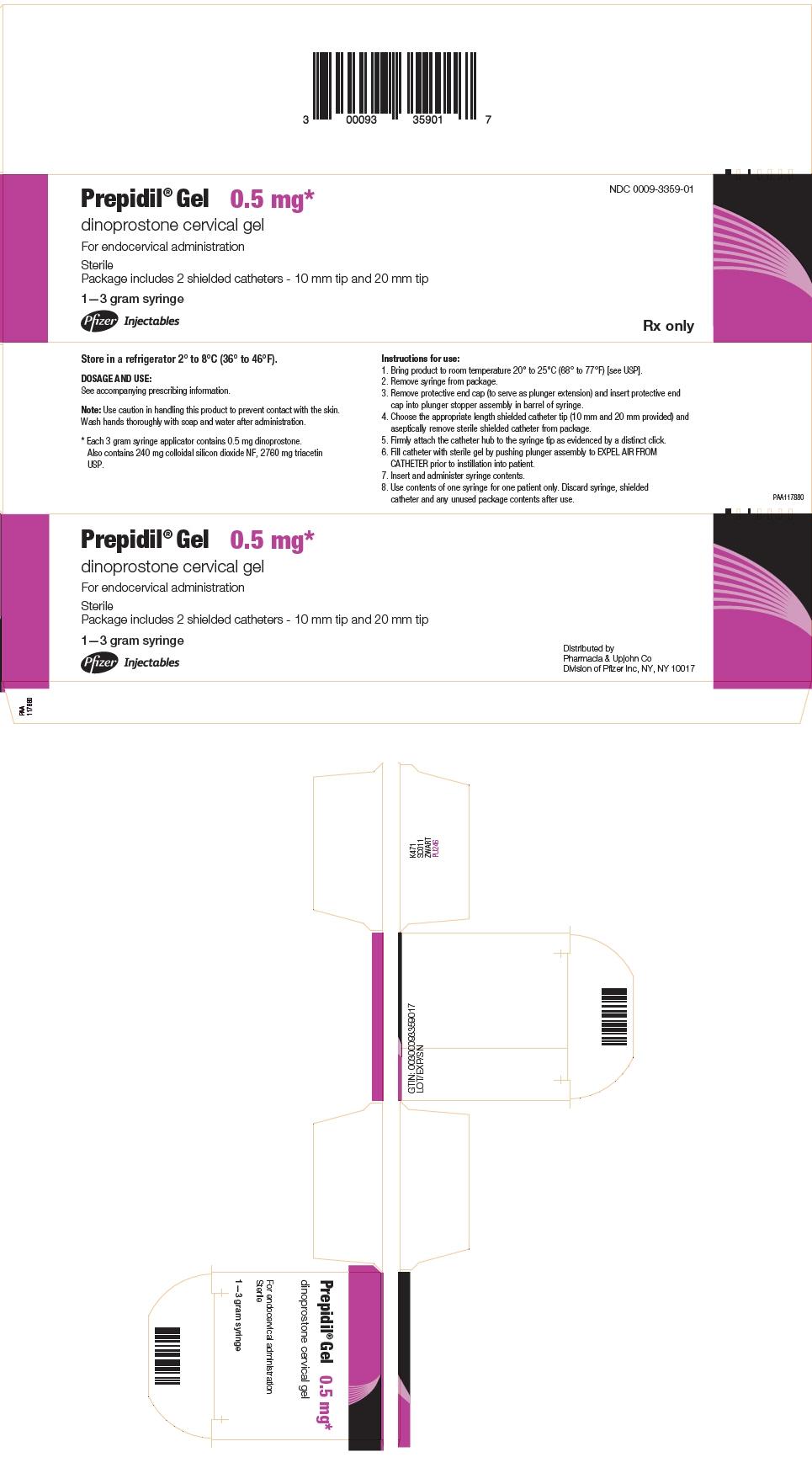PRINCIPAL DISPLAY PANEL - 3 gram Syringe Carton