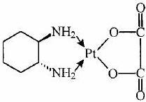 Oxaliplatin structural formula
