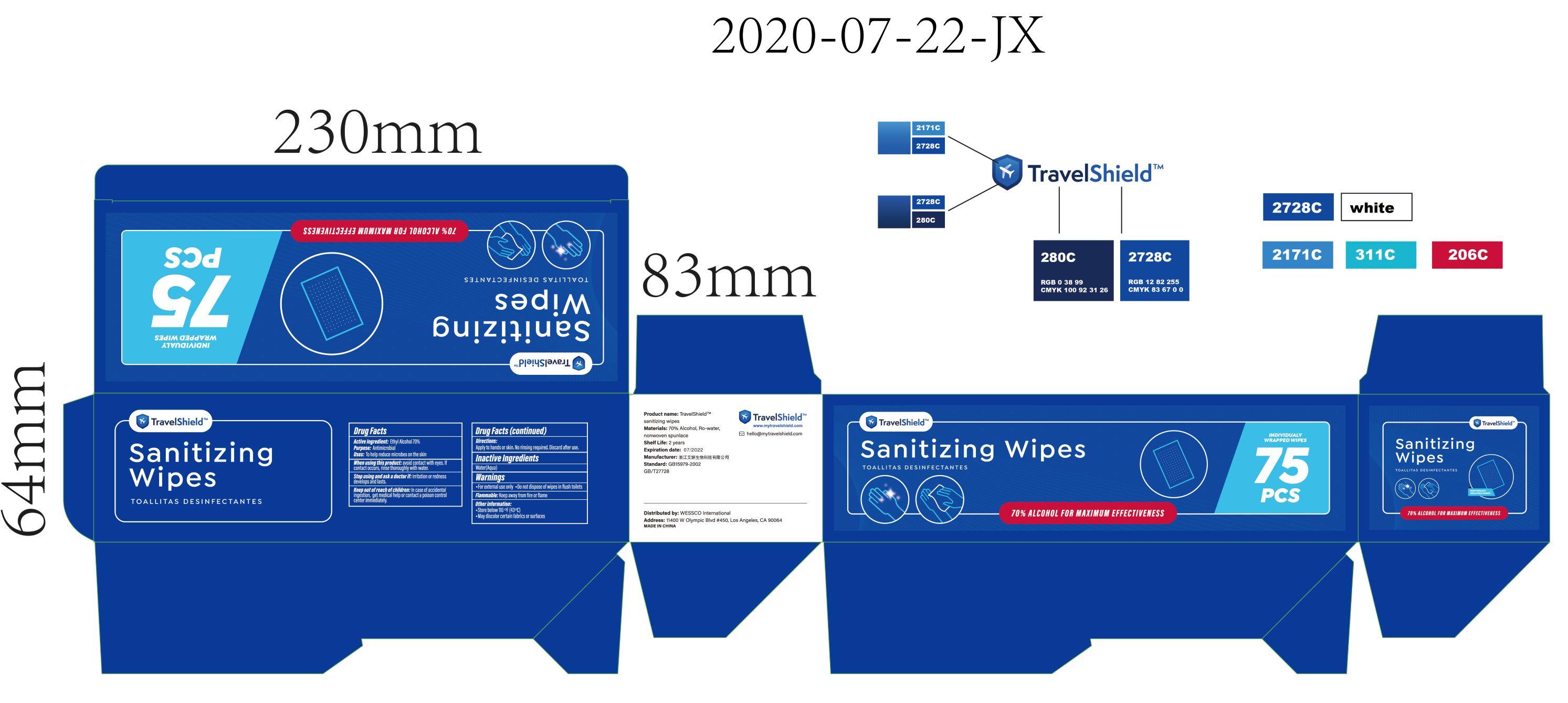 75pcs label