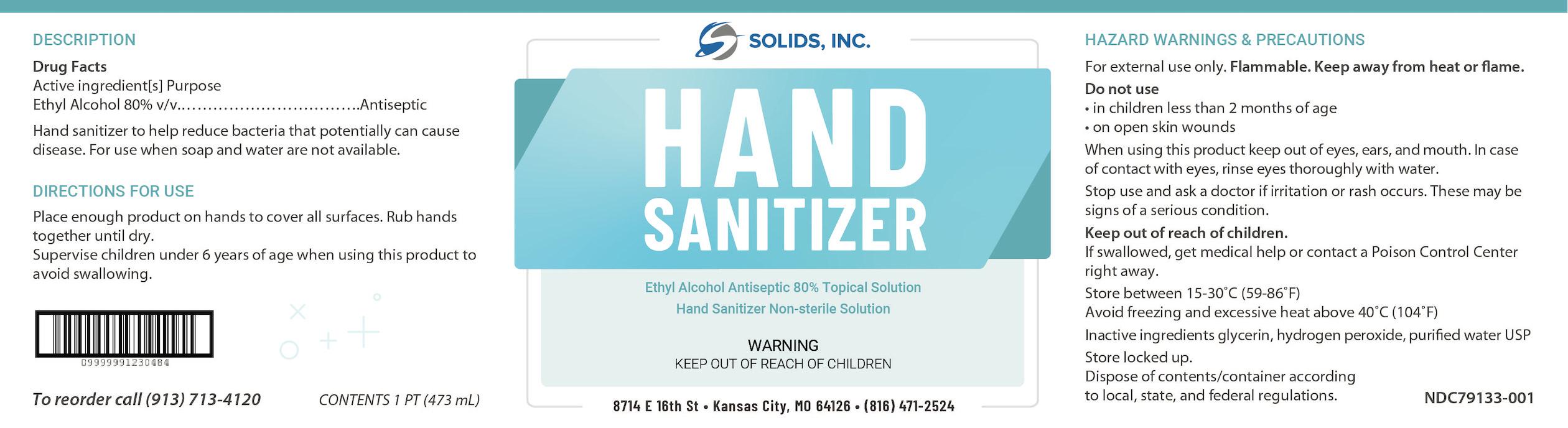 Hand Sanitizer Pint