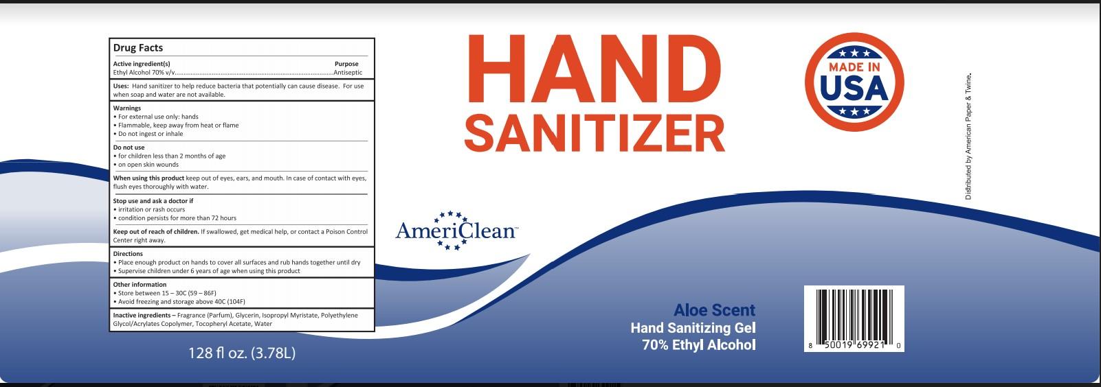 AmeriClean Gallon Label