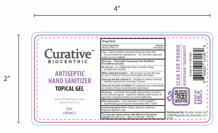 Curative Biocentric Antiseptic Hand Sanitizer 2oz or 60mL