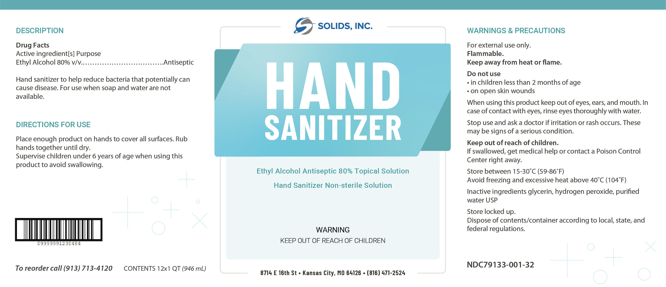 Hand Sanitizer Quart Box