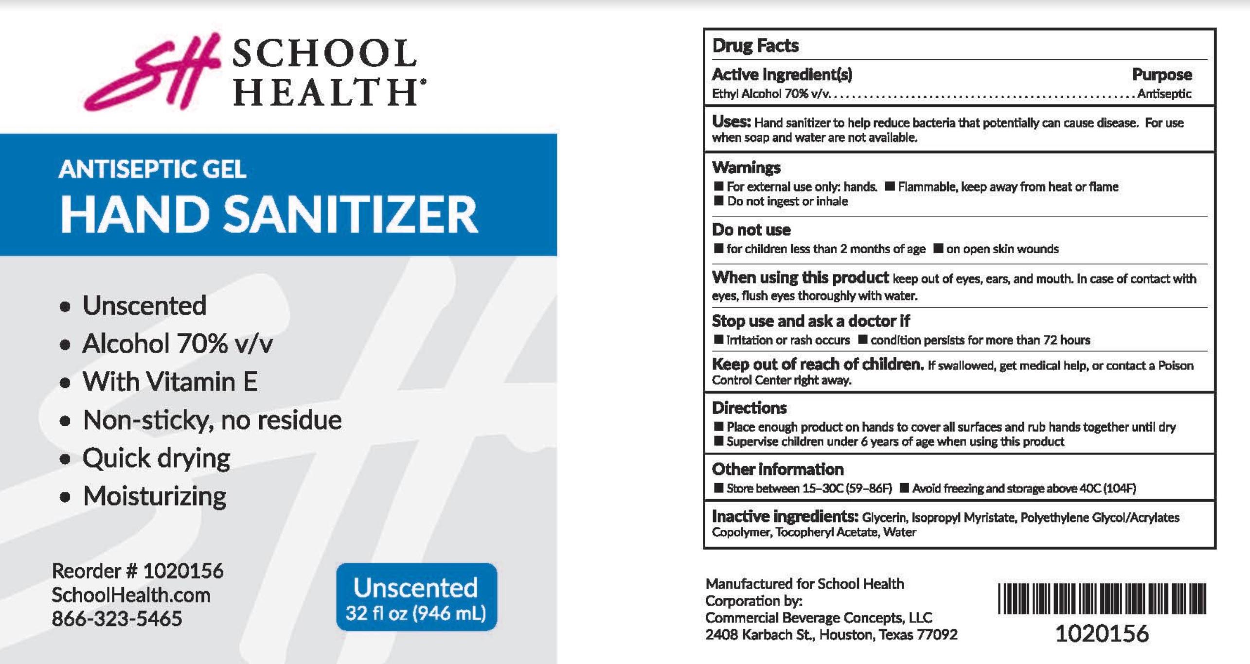 School Health 32oz Label