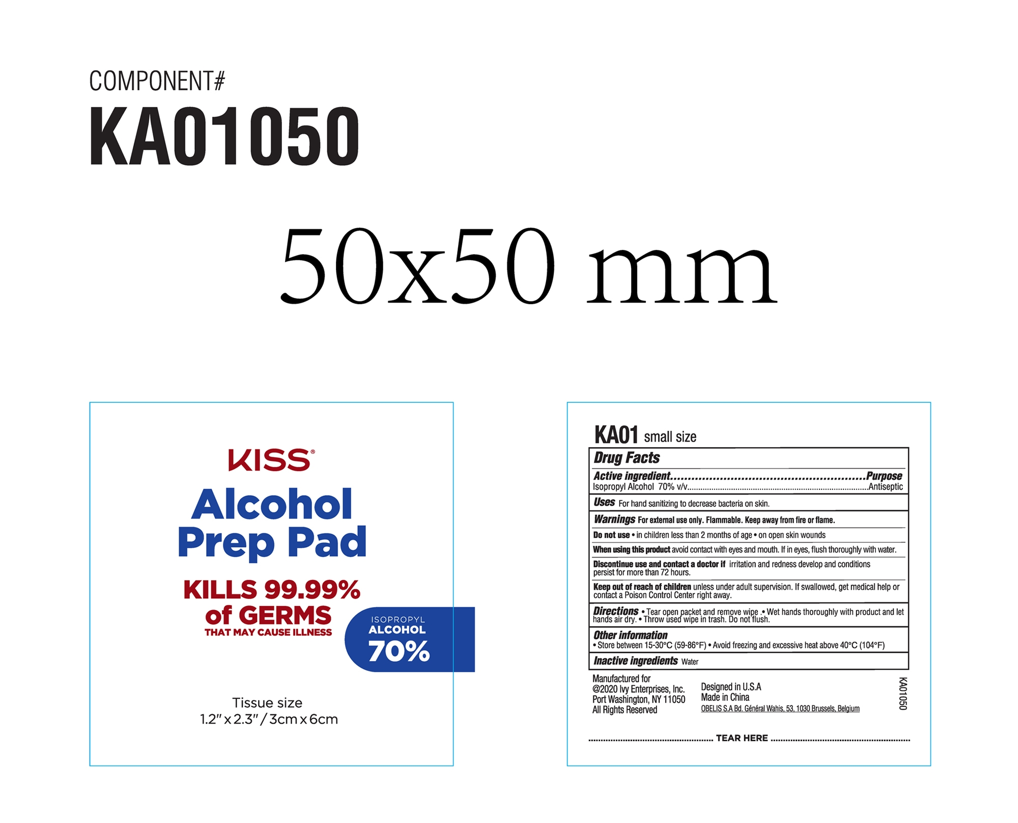 Kiss Alcohol Prep Pad KA01