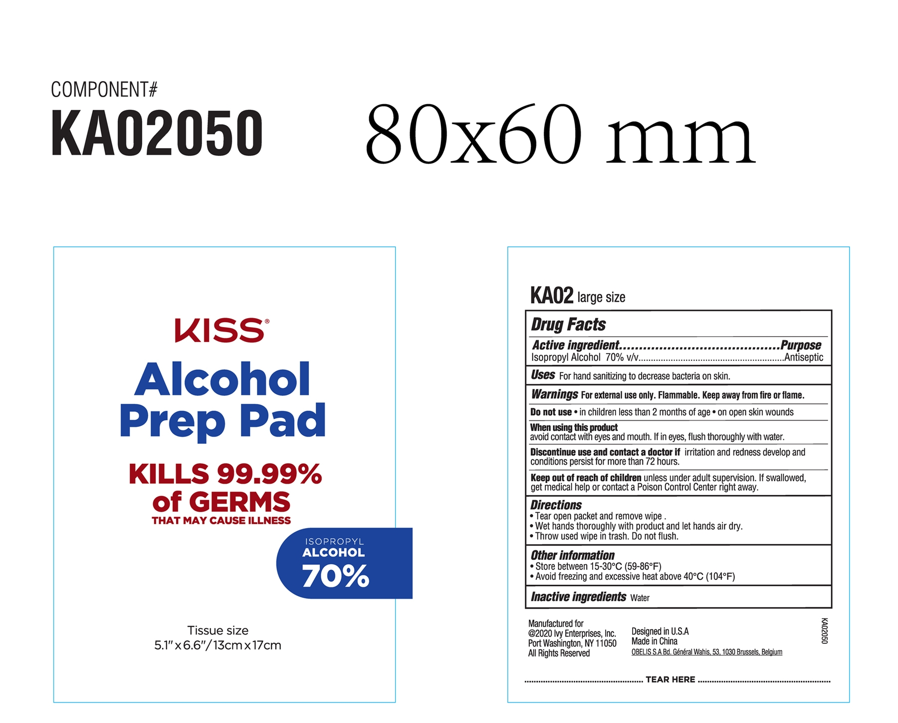 Kiss Alcohol Prep Pad KA02
